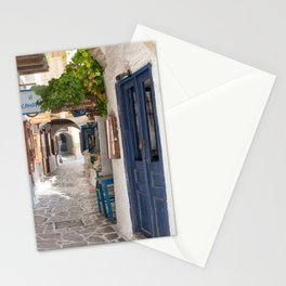 Small alley in Naxos Stationery Cards