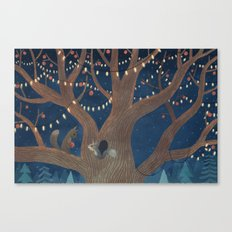 Put the lights on the tree Canvas Print