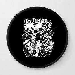 Retro Pop culture Black & White mashup Pop Art Wall Clock