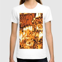 Abstract Gold Fire Paint V T-shirt