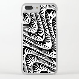 Black and White Serpentine Pattern Clear iPhone Case