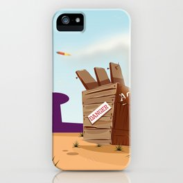 acme rocket crate iPhone Case