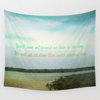 poem Wall Tapestries featuring Summer Poem by Armine Nersisian