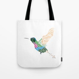 Abstract Hummingbird ~ Garnet-throated Variant Tote Bag