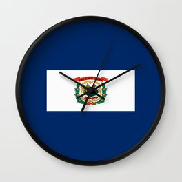 West Virginia State Flag Wall Clock