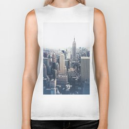 New York City and the Empire State Building Biker Tank