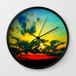 Curdled Clouds Wall Clock