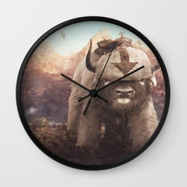 Appa in the Mountains Wall Clock