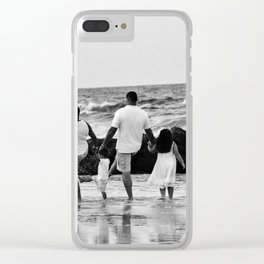 Kicking Waves Clear iPhone Case