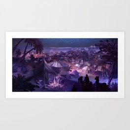 Paulo Coelho's The Alchemist - Al Fayyum Oasis Art Print