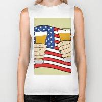 america Biker Tanks featuring America by Ricki Lynn