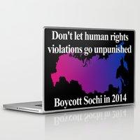 bisexual Laptop & iPad Skins featuring Boycott Sochi - Bisexual Flag Gradient by Boycott Sochi