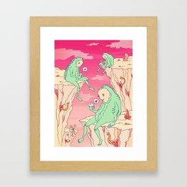 Love Canyon aliens technology scifi sci-fi surrealist print Framed Art Print