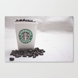 Starbucks Coffee Beans Canvas Print
