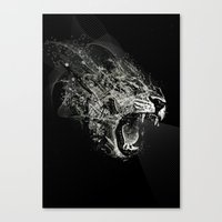 fierce Canvas Prints featuring Fierce by Ismael Sandiego