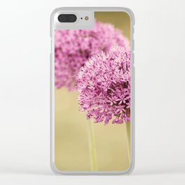 Alliums Clear iPhone Case