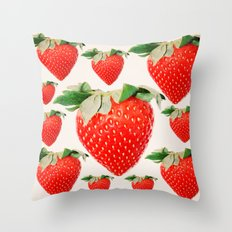 strawberry explosion Throw Pillow