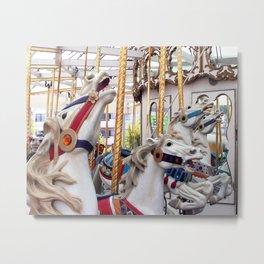 Carousel horses 01 Metal Print