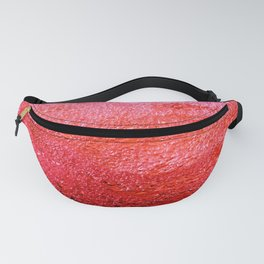 WATER BUBBLES ABSTRACT - RED Fanny Pack