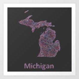 Michigan Art Print