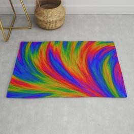 Fractal Rainbow Rug