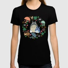 Troll Wreath Womens Fitted Tee Black MEDIUM