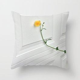 I am a flower, not a weed Throw Pillow