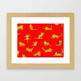 Tigrrrrs Framed Art Print