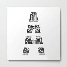 """Tao"" Letter A Metal Print"