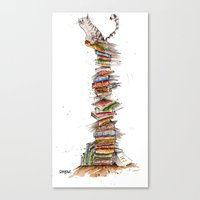 bad idea Canvas Prints featuring This was a bad idea  by Fearillustration