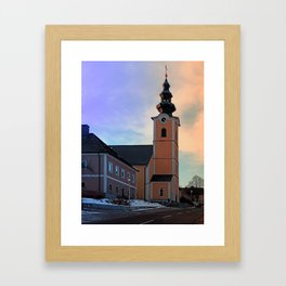 The village church of Traberg I | architectural photography Framed Art Print