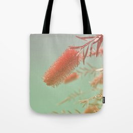 Red Fluffy Plant Tote Bag