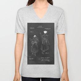 Vintage Fashion Negligee Patent Unisex V-Neck