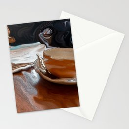 Coffee Shop Newspaper Stationery Cards