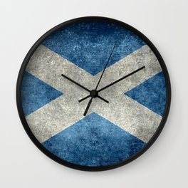Scottish Flag - Vintage Retro Style Wall Clock