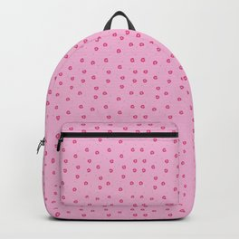 Tiny cherry slices on pink Backpack