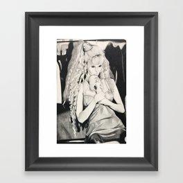 Claudia schiffer Framed Art Print