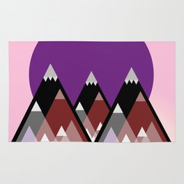 Geometric Mountains Rug