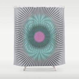 Moon Burst Shower Curtain