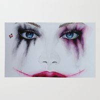 harley quinn Area & Throw Rugs featuring Harley Quinn by Halinka H
