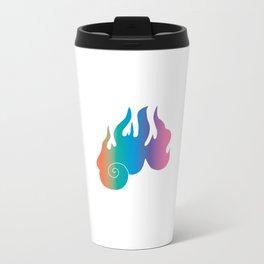 Rainbow Flame of God's Wrath Travel Mug