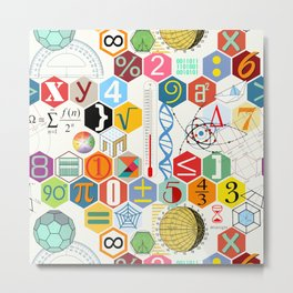 Math in color (white Background) Metal Print