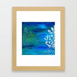 Noite feliz Framed Art Print