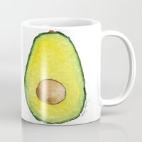avocado Mugs featuring Avocado  by Amelia Jayne