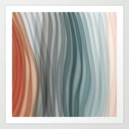 Pretty Pastel Bands Art Print