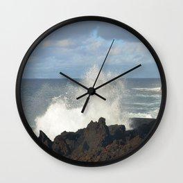 Sea Spray On A Lava Shoreline Wall Clock