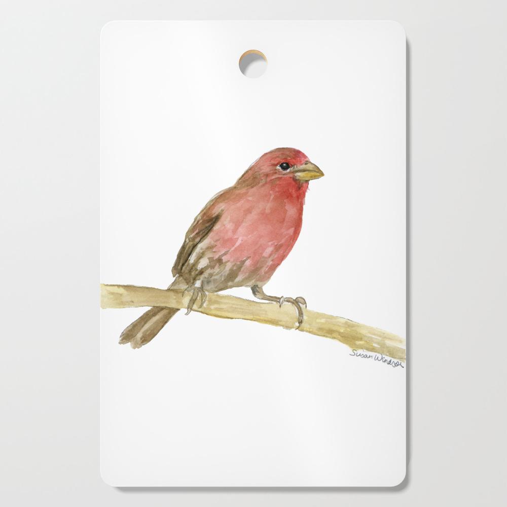 House Finch Bird Watercolor Cutting Board by susanwindsor (DCB11342623) photo