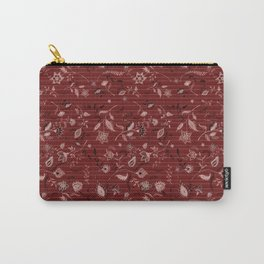 Paisleys in Maroon - by Fanitsa Petrou Carry-All Pouch