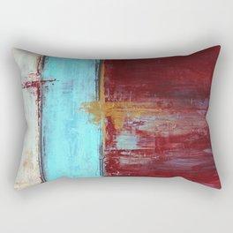 Commandment - Textured Abstract Painting Rectangular Pillow