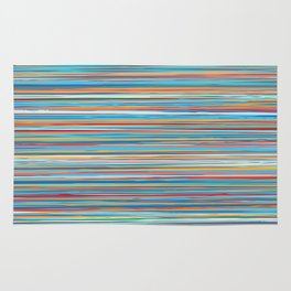 Colorful lines summer pattern Rug